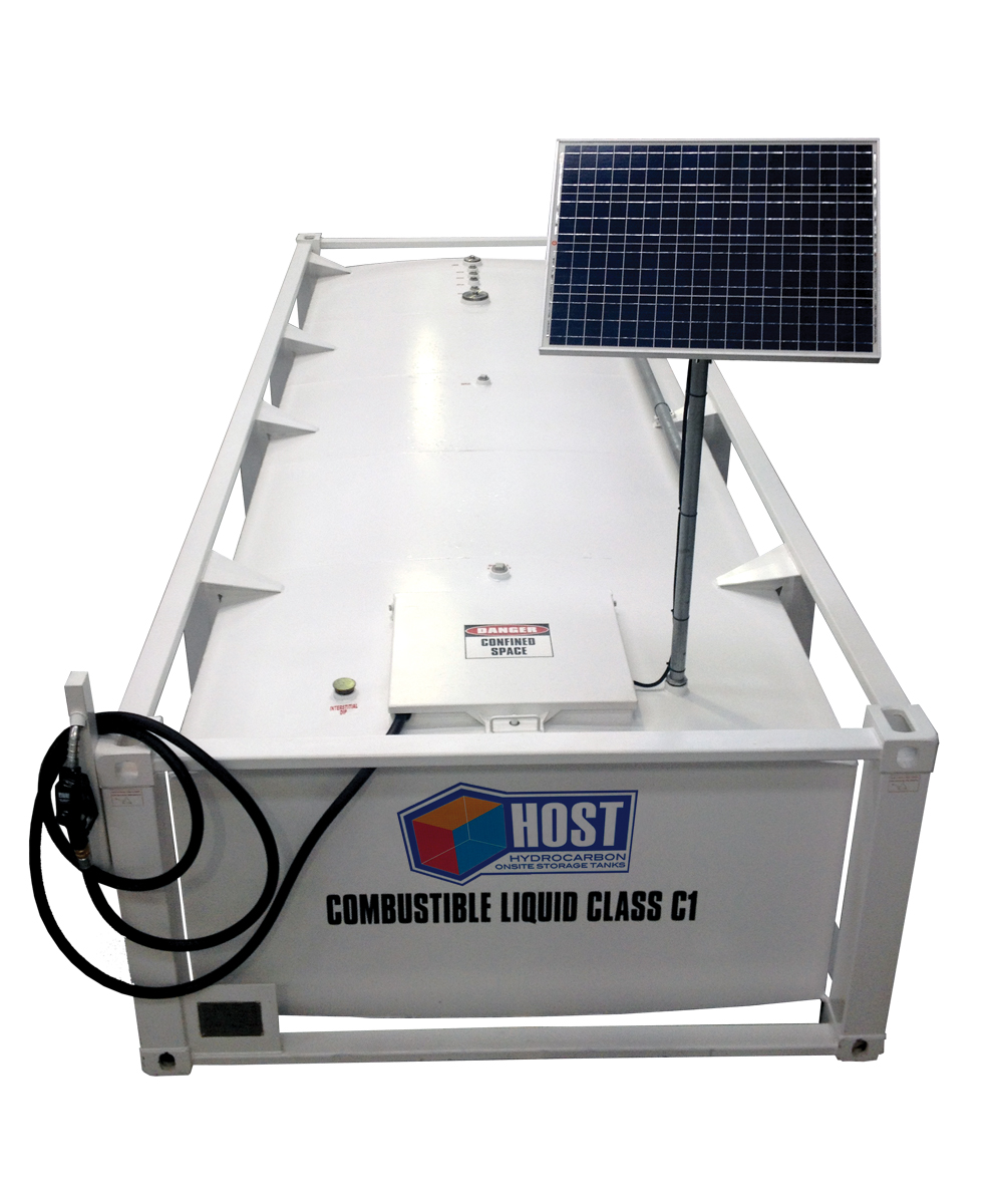 Liquip Victoria Solar powered HOST Self Bunded Diesel Tank Cube