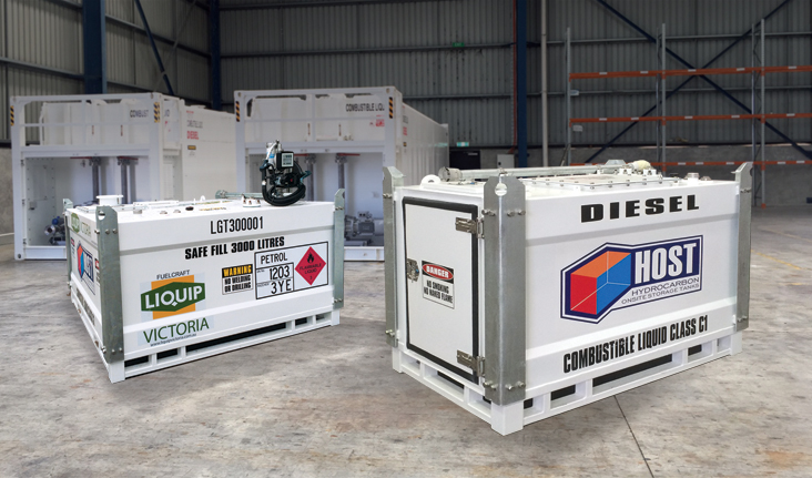 Liquip Victoria HOST Self Bunded Tank Cubes for diesel, fuel and lubricant storage